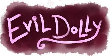 The banner for the entry page of Evil Dolly's site evil-dolly.com.